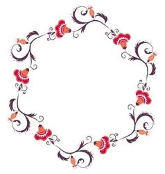 Floral wreath Flower border frame vector image