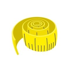 Measuring tape cartoon icon vector image