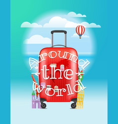 vacation travelling concept around the world logo vector image vector image