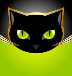Black cat head vector image