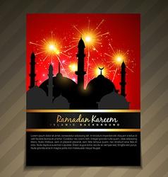 islamic festival celebration vector image vector image