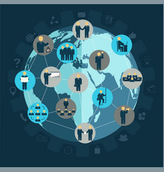 social networking business people workforce vector image vector image