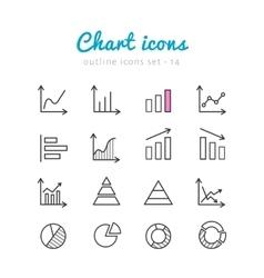Chart icons set vector image