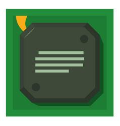 Chip icon cartoon style vector