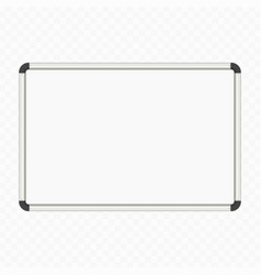 empty white marker board vector image