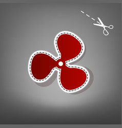 fan sign red icon with for applique from vector image vector image