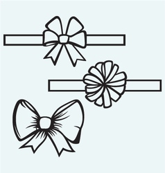 Gift bows vector image vector image