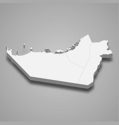 3d isometric map abu dhabi is a emirate vector