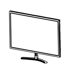 3d model of the monitor on a white vector image