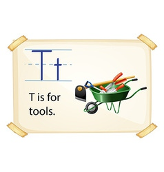 A letter T for tools vector image