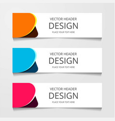 Abstract geometric design banner web template vector