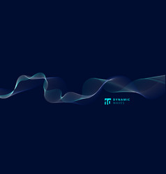 Abstract lines dynamic waves pattern on blue vector