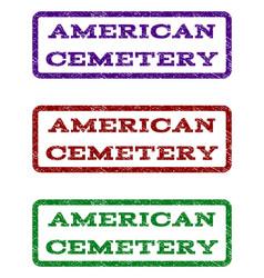 American cemetery watermark stamp vector