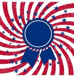 American flag style badge vector