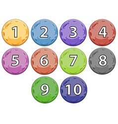 Balls with numbers vector image