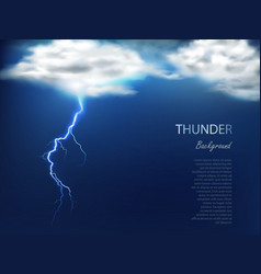 Banner with clouds and charge lightning vector