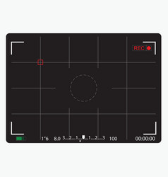 Black camera focusing screen vector