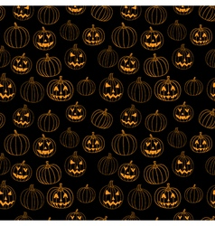 Black halloween print seamless pattern with vector image