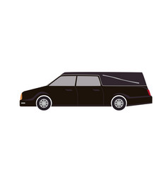 Black hearse isolated on white background vector