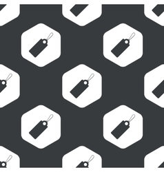 Black hexagon string tag pattern vector image
