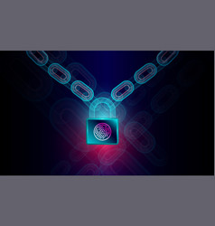block chain technology with high security vector image