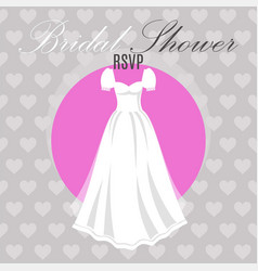 bridal shower dress on hearts vector image