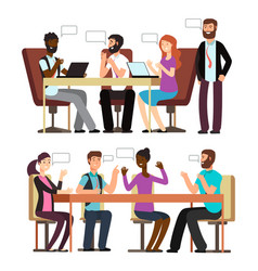business people conversation in business vector image