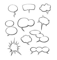 Cartoon dialog clouds vector