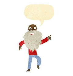 Cartoon stressed old man with speech bubble vector