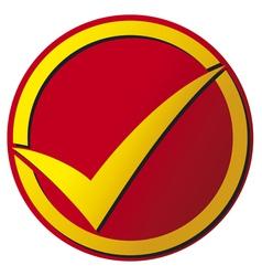 Check mark button vector image