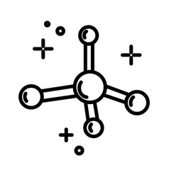 chemistry science molecule model isolated line vector image