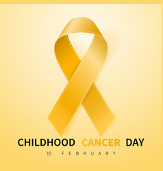 childhood cancer day symbol 15 february yellow vector image
