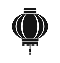 Chinese lantern icon simple style vector image