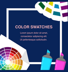 color swatches flat design vector image