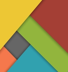 Colorful overlap layer material design background vector
