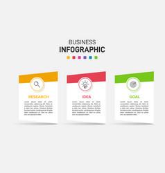 Concept arrow business model with 3 successive vector