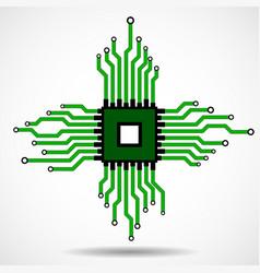 Cpu microprocessor microchip circuit board vector