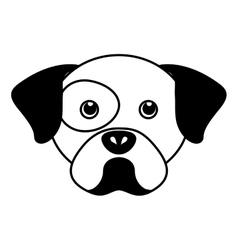 Cute dog mascot head isolated icon vector