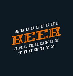 decorative italic serif font vector image
