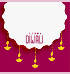Diwali festival background with text space vector
