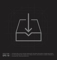 Download icon - black creative background vector