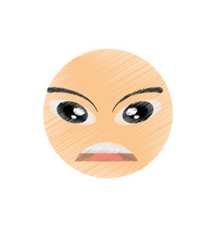Drawing facial emoticon image vector