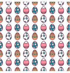 easter eggs seamless pattern16 vector image