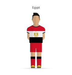 Egypt football player Soccer uniform vector