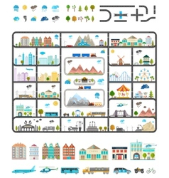 Elements of Modern City - Stock vector image