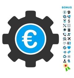 Euro Development Flat Icon with Bonus vector image