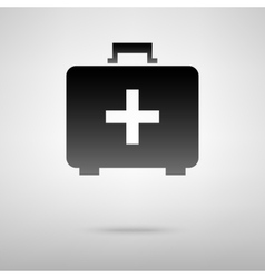 First aid box black icon vector