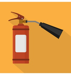 Flat fire extinguisher vector