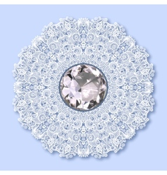 floral background with diamond jewel vector image