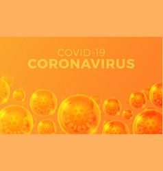 futuristic coronavirus or covid-19 web banner vector image